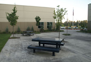 Portland Cremation Center Outside Gathering Area